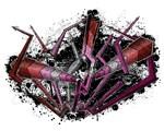 Graffiti Lipstick Lesbian Lightning and Arrows