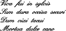 Viva Fui in Sylvis  [16th c. Musical Riddle/Motto]