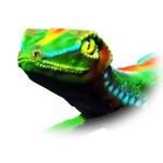 Gecko Lizard Close up 3d digital Art