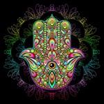 Hamsa Hand Amulet Psychedelic