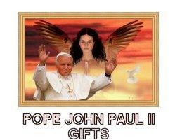 Pope John Paul II and Angel