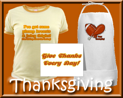 Thanksgiving Aprons, T-shirts & Gifts