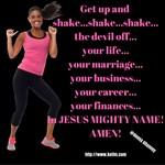 Women's Apparel - Get Up and Pray Design