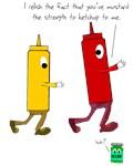 Ketchup Mustard Relish Race Shirt T-shirt Pun Punn