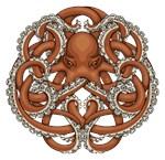 Octopus Emblem Red