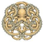 Octopus Emblem Gold