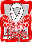 Hope Butterfly Mesothelioma Ribbon Shirts