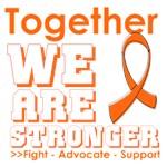 Together We Are Stronger Kidney Cancer Shirts