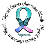 Thyroid Cancer Awareness Month Butterfly T-Shirts