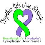 Lymphoma Dual Ribbon T-Shirts & Gifts