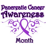 Pancreatic Cancer Month Tribal Ribbon Shirts