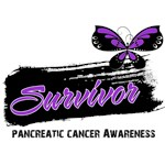 Pancreatic Cancer Survivor Butterfly Shirts