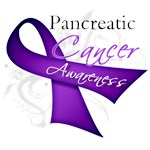 Pancreatic Cancer Awareness Purple Ribbon Shirts