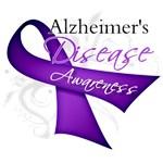 Alzheimer's Disease Purple Ribbon Awareness Shirts