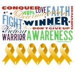 Empowering Words Appendix Cancer Shirts