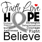 Faith Hope Brain Cancer Shirts