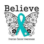 Believe - Ovarian Cancer Shirts and Gifts