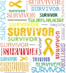 Survivor Colorful Appendix Cancer Shirts