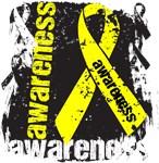 Testicular Cancer Awareness Grunge Ribbon Shirts
