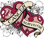 Throat Cancer Survivor Double Heart Shirt