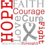 Hope Faith Courage Brain Cancer Shirts