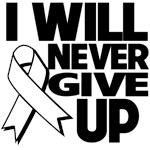 I Will Never Give Up Bone Cancer Shirts