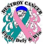 Destroy Thyroid Cancer Shirts and Gear