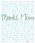 Thanks, Mom (Blue)