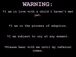 WARNING...Bear With Me