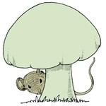 Mouse under Mushroom