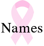 Pink ribbon names