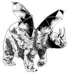 Rhino PolarBear Bat Chimera