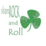 Green Guitar Pick shamROCK and Roll