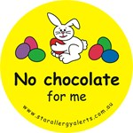 No chocolate for me-allergy alert