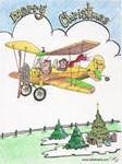 Christmas Airplane Scene