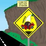 Better Falling Rock Sign