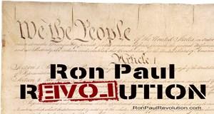 Ron Paul & Preamble Closeup Men's Clothing