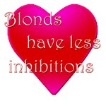 Blondes have less inhibitions
