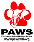 PAWS Logo on front with Clarie photo on Back-Adult