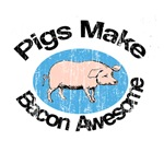 Vintage Pigs make Bacon Awesome
