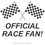 CHECKERED FLAG OFFICIAL RACE FAN