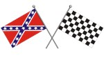 CROSSED<br/>REBEL & CHECKERED FLAGS