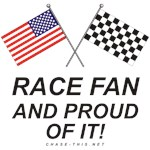 AMERICAN & CHECKERED FLAG<br />PROUD  RACE FAN