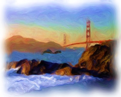 AFTM Goldern Gate Bridge From The Beach