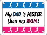 My Dad is FASTER than my Mom - Running