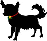 Christmas or Holiday Chihuahua Silhouette