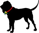 Christmas or Holiday Bloodhound Silhouette
