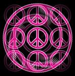 Pink Peace Symbols