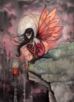 Autumn Flame Fairy Fantasy Art