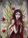 Scarlet Fairy Fantasy Art